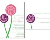 Ranunculus Wedding Invitation Set - Printable JPG
