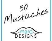 Mustache Maro Kit - The Crumb Catcher - 50 Pack