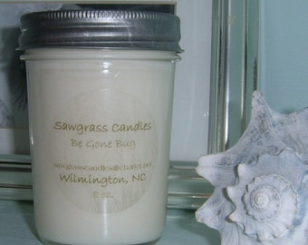Be Gone Bug - soy wax candle made with essential oils - 8oz