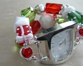 Happy Holidays - Red, Green, and White Interchangeable Watch Band