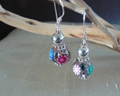 Iona - Embellished Polymer Clay and Silver Earrings