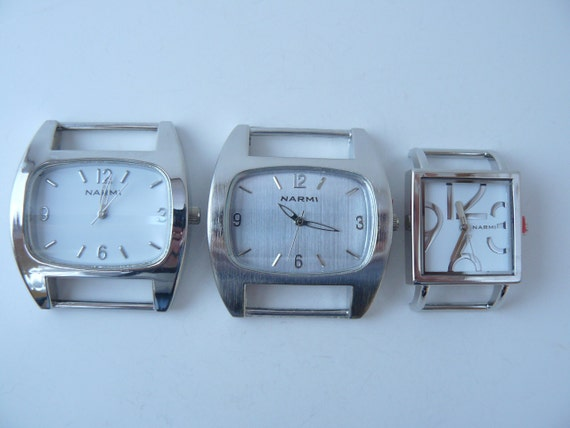 Etsy Large Solid Bar Watch Face White Silver