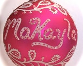 Customized Handpainted Name Ornaments