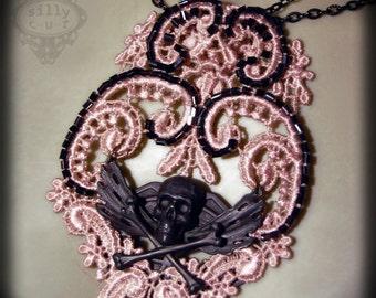 necklace - NOSTALGIA II - gothic, victorian, assemblage, chestpiece, dark romance, mourning
