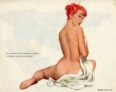 vintage art illustration pin-ups esquire 1961 original  10 inches by 8 inches recto verso