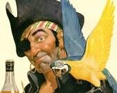 antique 1941 old pirate advertisement yellow bird