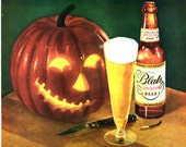 vintage 1947 halloween beer advertisement blatz