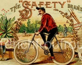 antique victorian bicycle cigar label 1905 lithograph digital download