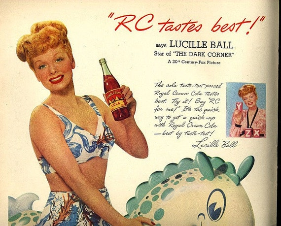 vintage lucille ball pinup swimsuit 1946 advertisement