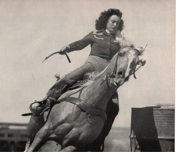 vintage cowgirl rodeo texas 1948 advertisement
