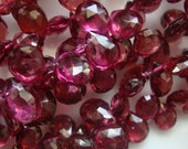 Baby Dark Pink Garnet Faceted Pear Briolettes AA to AAA  Half Strand
