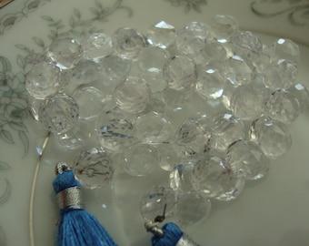 Rock Crystal Candy Kisses  Onion Shape Briolettes 10 Pcs 9mm LAST lot