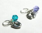 FREE SHIPPING - Personalized Swarovski Crystal Birthstone Baby Feet Pendant