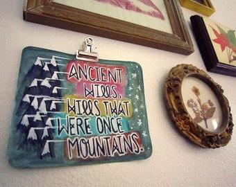 ANCIENT HILLS -- Original Watercolor Illustration