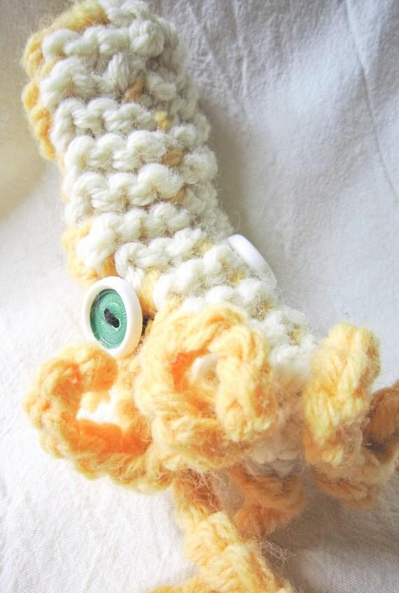 Squid Pipe Cozy -- Cream & Sunshine Yellow, Small