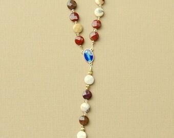 Mookaite Car Rosary