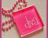 CLOSEOUT: Sassy Glass Pendant - Diva (10600)