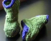 Cowboy Booties Knitting PATTERN