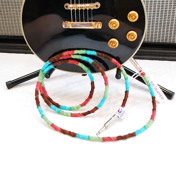 6FT Instrument Cable in Spumoni With Straight Plugs - CLASSIC