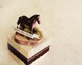 Handmade pedestal -Ogden the horse-