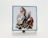 Handmade light box display -Go ask Alice-