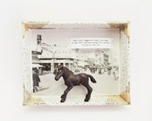 3D diorama display -Horse in happiness-