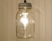 Vintage CLEAR Canning Jar PENDANT Created NEW