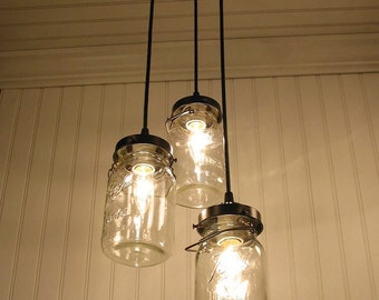 Vintage Canning Jar CHANDELIER Created NEW