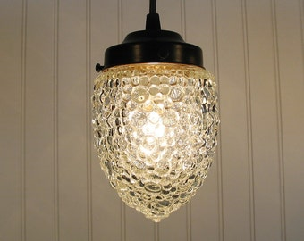 Thomston. BULLET Bubble Vintage Clear PENDANT Created New