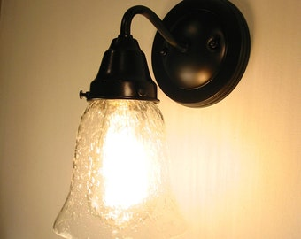 Kellie II.  Seeded Glass SCONCE Light - Wall Mount Lighting Fixture Farmhouse Kitchen Bathroom Ceiling Chandelier Hanging Lamp by LampGoods