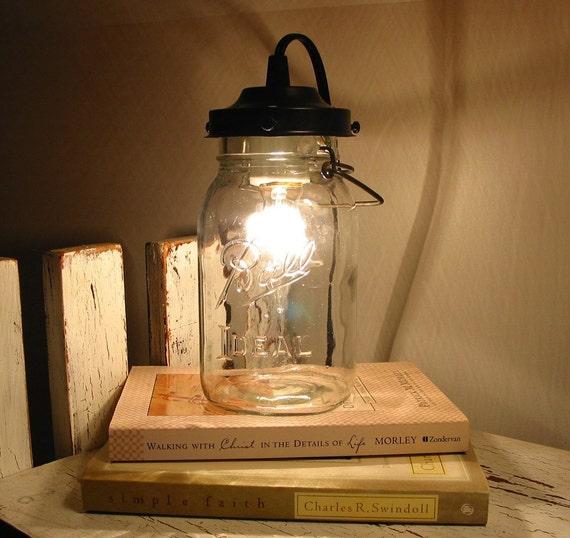 Orono II. Vintage Canning Jar LAMP Created New