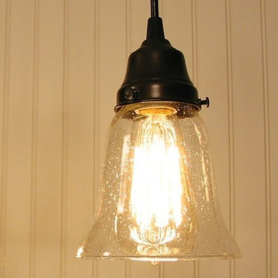 Kellitown. Seeded Glass PENDANT Light By LampGoods On Etsy