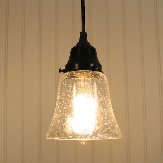 Kelliburg Clear Seeded Glass Pendant Light