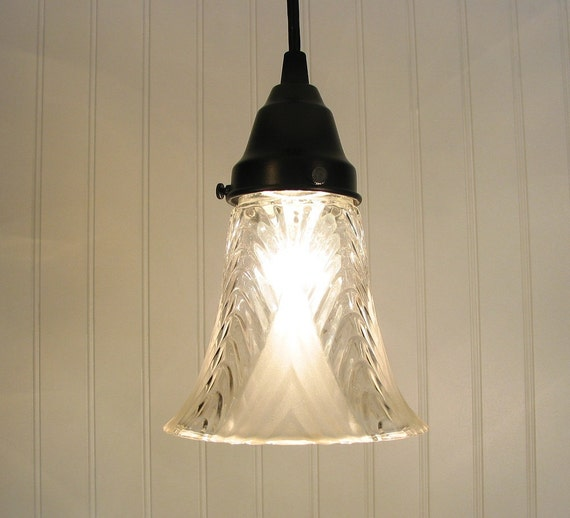 Corinna I. Frost & Clear Shade PENDANT Created NEW