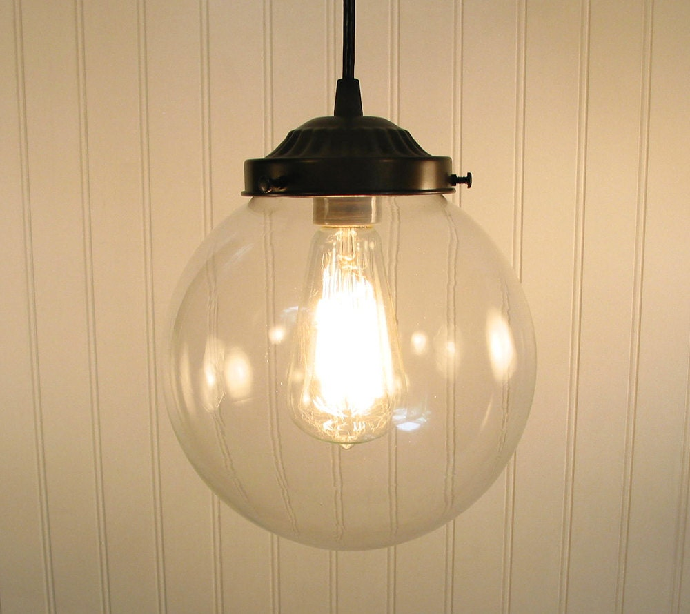 Biddeford. Clear Globe PENDANT Light