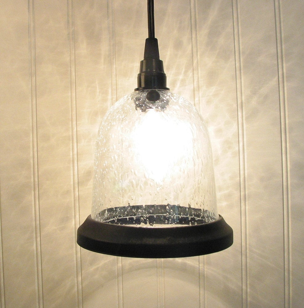 urbanville seeded pendant light with clear bulb canopy kit. Black Bedroom Furniture Sets. Home Design Ideas