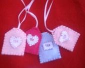 Eco Felt Tea Bags-Buy 2-Get 1 Free...