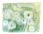 Dandelions  Print  from my original watercolor painting 10x8 inch