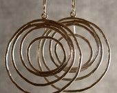 Circle Hoops Silver Bridesmaid Earrings, Silver Hoop Earrings, Silver Circle Earrings (4044x)