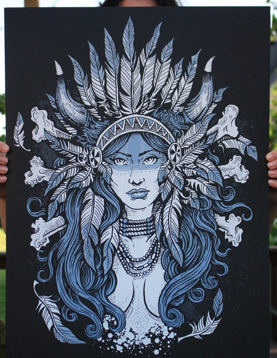 Native Beauty - Warpaint Poster
