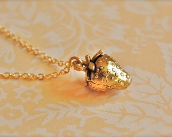 The Strawberry Necklace - Gold