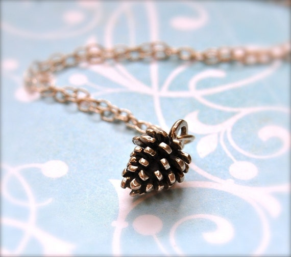 Silver Pine Cone Necklace