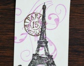 Eiffel Tower with Postmark Tags