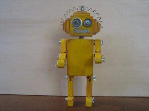 driver bot - wooden robot