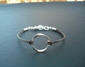 Bridesmaid bracelet, bridesmaid gift, wedding gift, silver bracelet with simple twisted ring