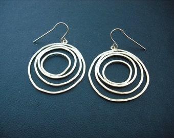multi circle earrings - matte 16K yellow gold plated