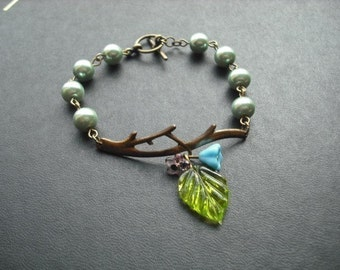 bare branch teal bracelet
