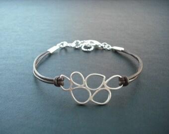 Bridesmaid bracelet, wedding gift, bridesmaid gift, silver bracelet with multi teardroop