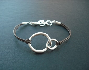 Bridesmaid bracelet, double curb link bracelet