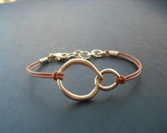 double curb link bracelet - matte 16K gold plated